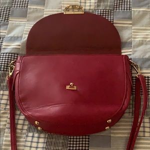 Wine Half Moon Crossbody